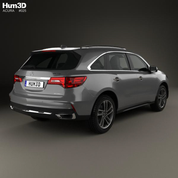 Acura MDX Sport Hybrid 2017 By Humster3d