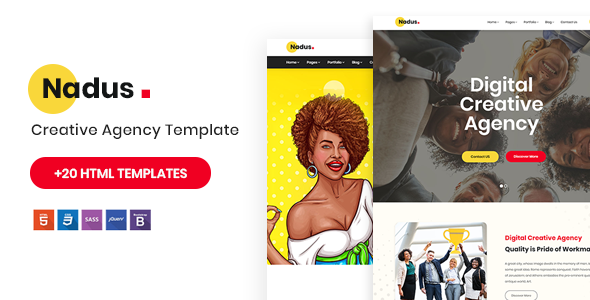 Nadus - Creative Agency HTML5 Template