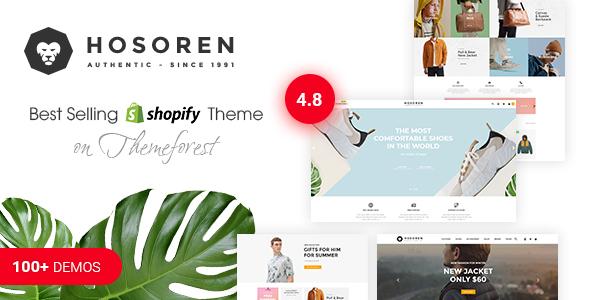 Hosoren - Responsive Shopify Theme (Sections Ready) - Shopify eCommerce