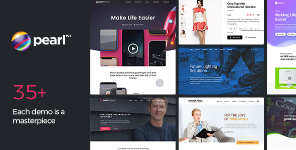 Pearl Business - Corporate Business WordPress Theme for Company and Businesses - Business Corporate