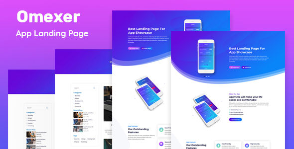 Super Omexer - App Landing Page