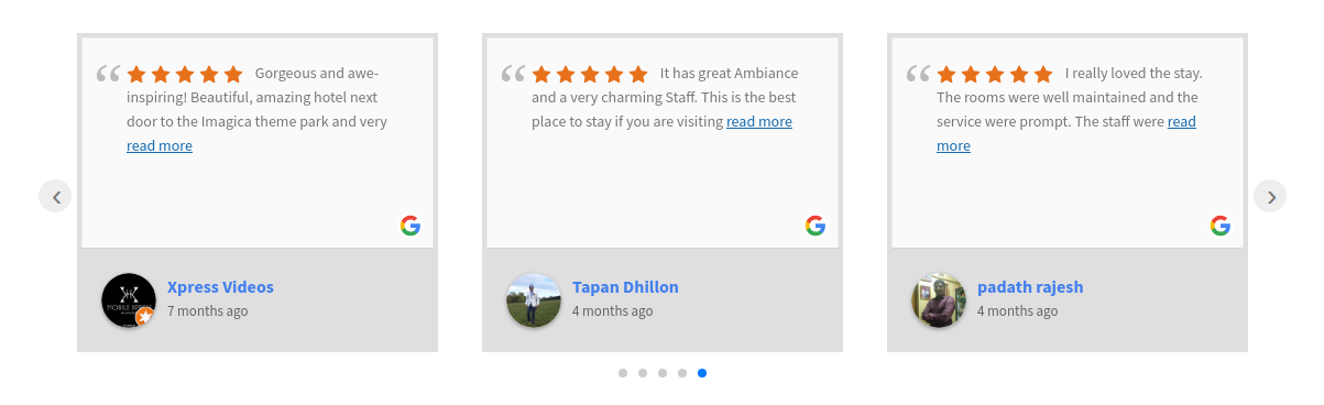 WordPress Google Reviews & Ratings