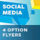 Social Media Company Flyers – 4 Options - GraphicRiver Item for Sale