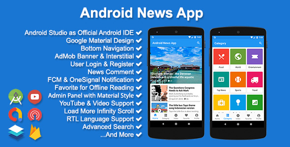 Android News App - CodeCanyon Item for Sale