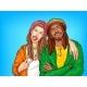 Rastafarian Subculture People Pop Art Vector - GraphicRiver Item for Sale