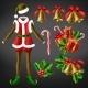 Christmas Celebration Attributes Vector Set - GraphicRiver Item for Sale