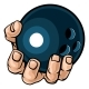 Hand Holding Bowling Ball - GraphicRiver Item for Sale