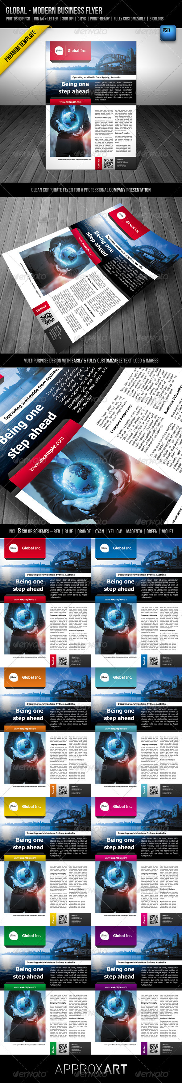 Global - Modern Business Flyer - Corporate Flyers