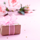 Gift box on pink background - PhotoDune Item for Sale