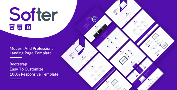 Softer - SaaS & Software HTML5 Landing Page