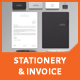 Silverpeak Stationery Set & Invoice Template - GraphicRiver Item for Sale