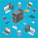 Data Network Technology Isometric - GraphicRiver Item for Sale