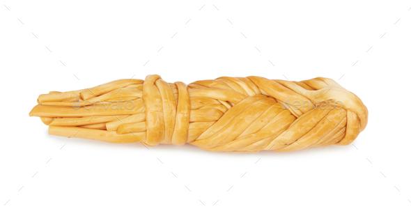 Smoked braided cheese - Stock Photo - Images