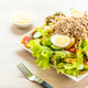 Tuna meat and eggs with fresh vegetable salad - PhotoDune Item for Sale
