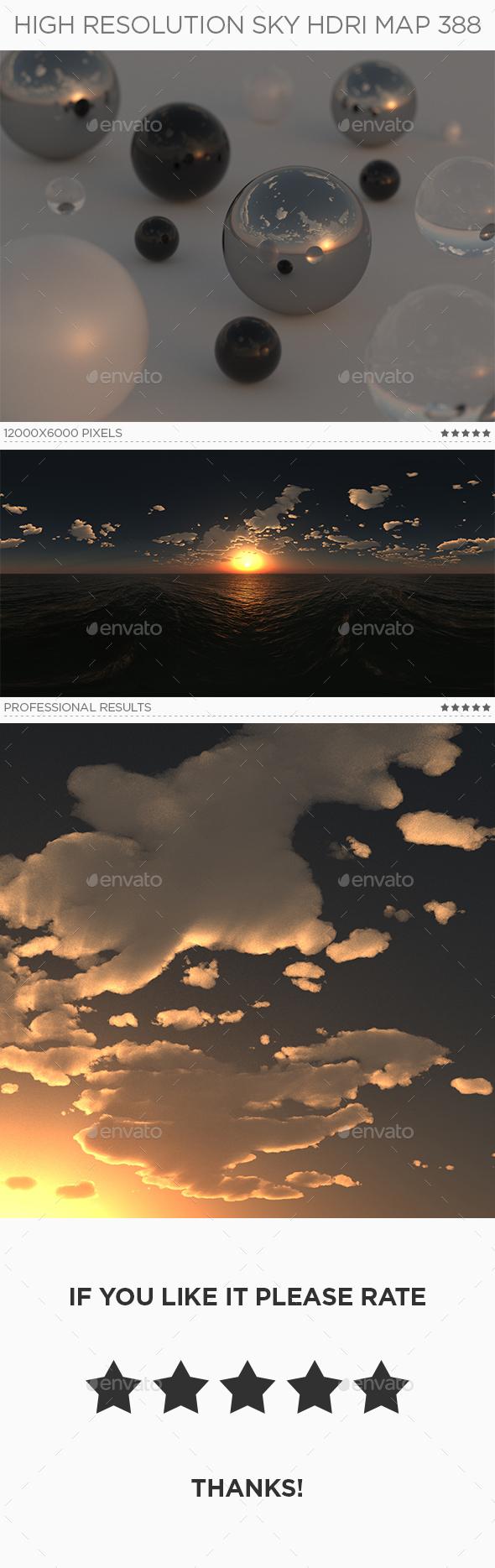 High Resolution Sky HDRi Map 388 - 3DOcean Item for Sale