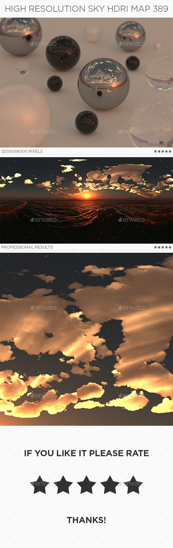 High Resolution Sky HDRi Map 389 - 3DOcean Item for Sale