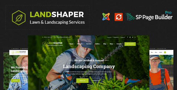 The Landshaper - Gardening, Lawn & Landscaping Joomla Theme - Business Corporate