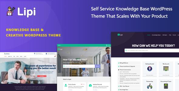 Lipi - Self Service Knowledge Base and Creative WordPress Theme