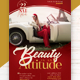 Beauty Is An Attitude Flyer Template - GraphicRiver Item for Sale