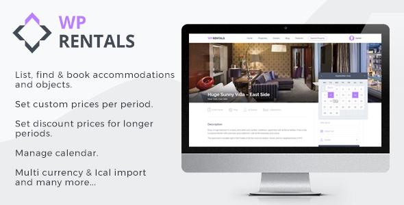 WP Rentals - Booking Accommodation WordPress Theme