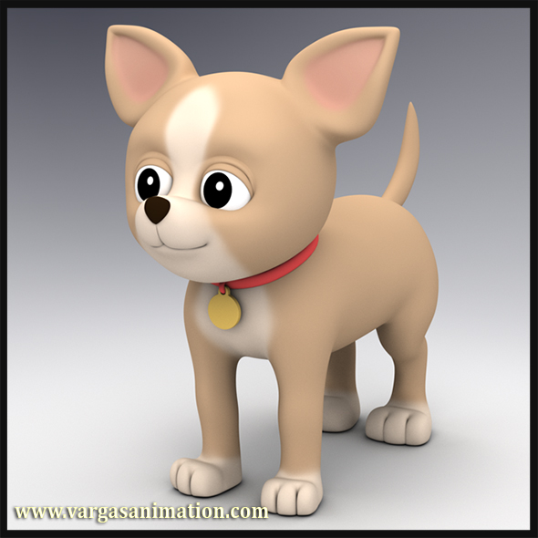 Cartoon Chihuahua - 3DOcean Item for Sale