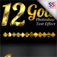 12 Gold Photoshop Text Effect Styles - GraphicRiver Item for Sale