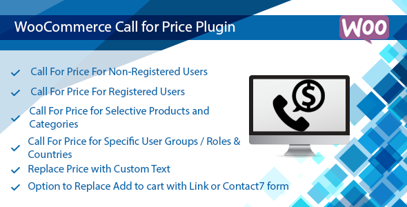 WooCommerce Call for Price – Call to Order Plugin - CodeCanyon Item for Sale