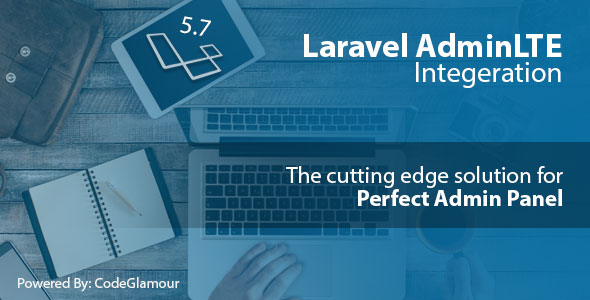 Laravel AdminLTE Integration + User CRUD