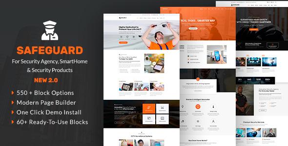 Safeguard - Security Services WordPress - Business Corporate