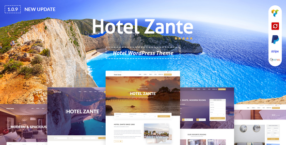 Hotel Zante -  Hotel WordPress Theme For Hotel Booking - Travel Retail