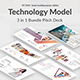 3 in 1 Technology Model Bundle Pitch Deck Powerpoint Template - GraphicRiver Item for Sale