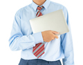 Businessman holding a laptop with clipping path 5 - PhotoDune Item for Sale