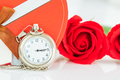 Close up pocket watch and red roses flower-3 - PhotoDune Item for Sale