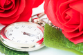 Close up pocket watch and red roses flower-6 - PhotoDune Item for Sale