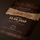 Rustic Wedding Invitation - GraphicRiver Item for Sale