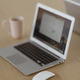 Laptop on a wooden desk - PhotoDune Item for Sale