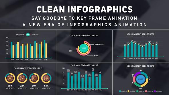 Clean Infographics MOGRT