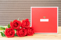 Red roses with gift-box - PhotoDune Item for Sale