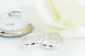 Wedding rings on white background-5 - PhotoDune Item for Sale