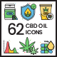CBD Oil Icons - Vivid Series - GraphicRiver Item for Sale