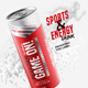 Energy | Sports Drink Packaging Can Label - GraphicRiver Item for Sale