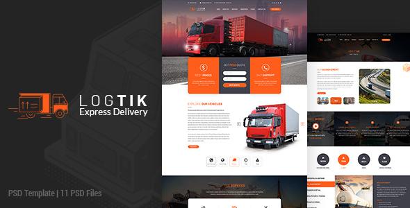 Logtik | Logistics PSD Template - Miscellaneous PSD Templates