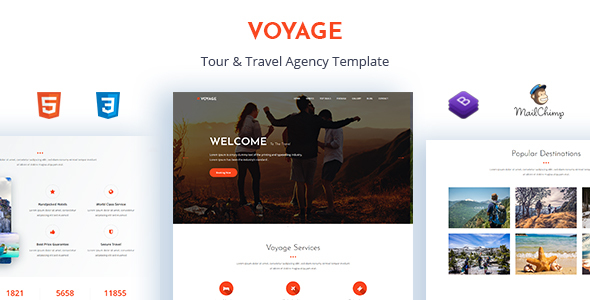 voyage tour travel agency template travel retail