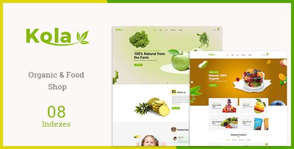 Kola - Organic & Food WooCommerce WordPress Theme