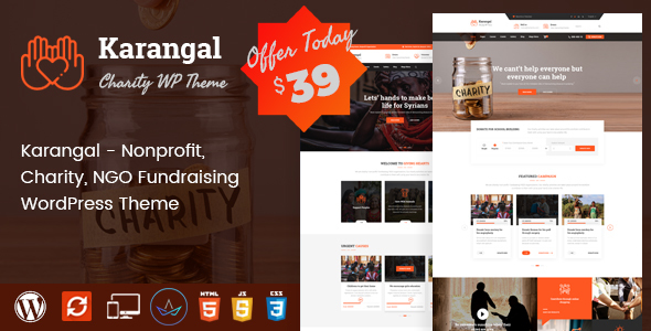 Karangal - Charity WP Theme