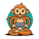 Monkey Gamer Logo Template - GraphicRiver Item for Sale