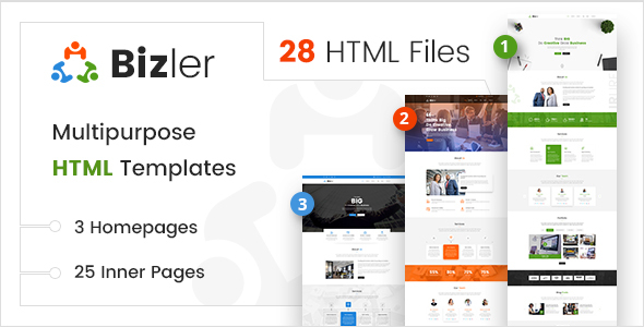 Bizler | Bootstrap4 Multipurpose Business HTML Template - Corporate Site Templates