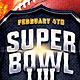 Football Super Bowl Flyer Template - GraphicRiver Item for Sale