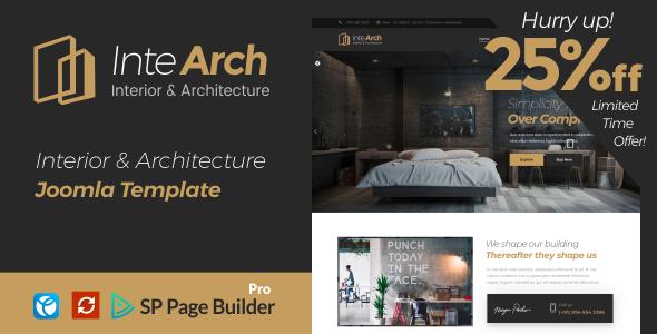 Intearch - Interior & Architecture Joomla Template