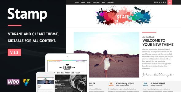 Stamp - Vibrant WordPress Theme - Business Corporate